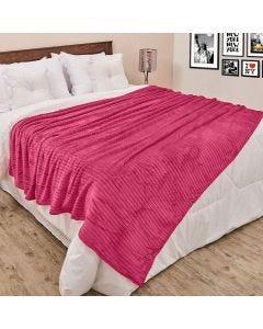 Cobertor de Casal 1,80x2,20m Canelado - Fucsia