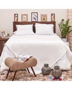 Cobertor de Casal 1,80x2,20m Canelado - Off White