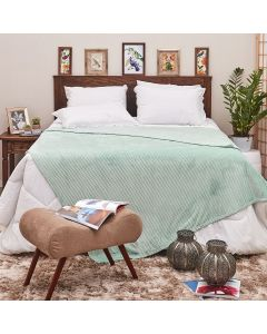 Cobertor de Casal 1,80x2,20m Canelado - Verde Menta