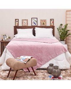 Cobertor de Casal 1,80x2,20m Canelado - Rose Blush