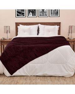 Cobertor de Casal 1,80x2,20m Canelado - Marron