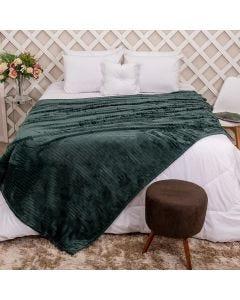 Cobertor de Casal 1,80x2,20m Canelado - Musgo
