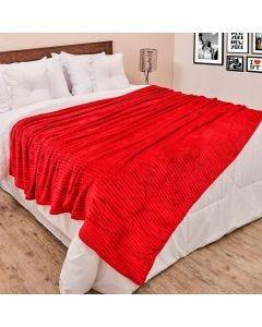Cobertor de Casal 1,80x2,20m Canelado - Vermelho