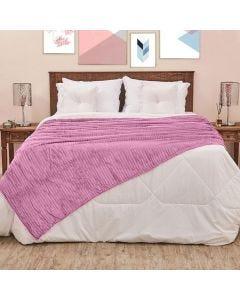 Cobertor de Casal 1,80x2,20m Canelado - Lilas