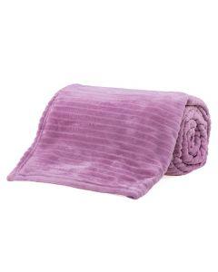 Cobertor De Casal 1,80X2,20M Canelado - Rosa Chiclete