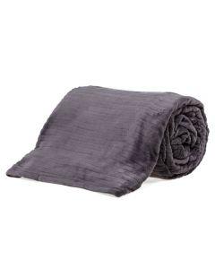 Cobertor King 2,40X2,60M Canelado - Cinza Chumbo