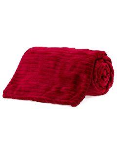 Cobertor King 2,40X2,60M Canelado - Vermelho