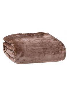 Cobertor King 240X260 Raschel Patricia Foster - Castanho New