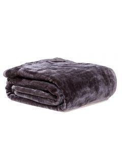 Cobertor King 240X260 Raschel Patricia Foster - Cinza New