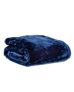 Cobertor King 240X260 Raschel Patricia Foster - Marinho
