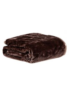 Cobertor King 240X260 Raschel Patricia Foster - Castor New