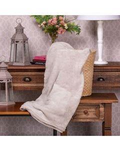 Cobertor Microfibra Casal Liso Yaris - Cru