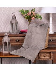 Cobertor Microfibra Casal Liso Yaris - Taupe