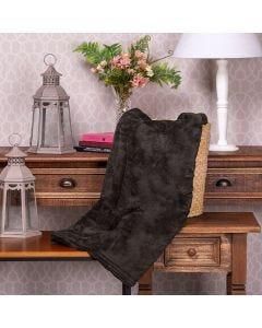 Cobertor Microfibra Casal Liso Yaris - Concreto