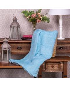 Cobertor Microfibra Queen Liso Yaris  - Azul