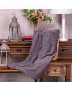 Cobertor Microfibra Solteiro Liso Yaris - Cinza