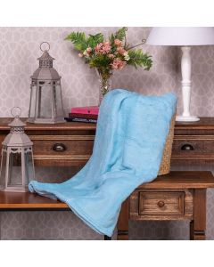 Cobertor Microfibra Solteiro Liso Yaris - Azul