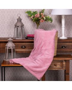 Cobertor Microfibra Solteiro Liso Yaris - Rose