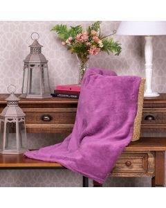 Cobertor Microfibra Solteiro Liso Yaris - Lilas