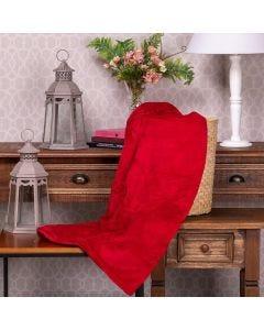 Cobertor Microfibra Solteiro Liso Yaris - Vermelho