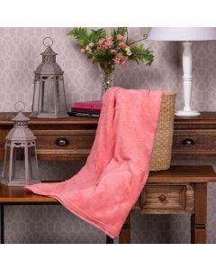 Cobertor Microfibra Solteiro Liso Yaris - Rosa Coral
