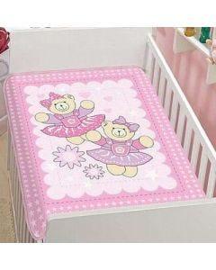 Cobertor para Bebê Anti-Alérgico Tradicional Pelo Alto - Jolitex - ROSA 04.155