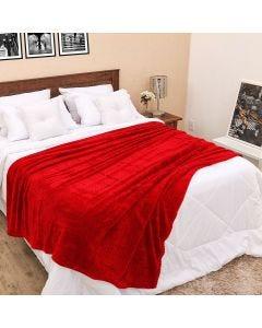 Cobertor Queen 2,20m x 2,40m Dobby - Cereja