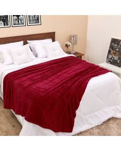 Cobertor Queen 2,20m x 2,40m Dobby - Vinho