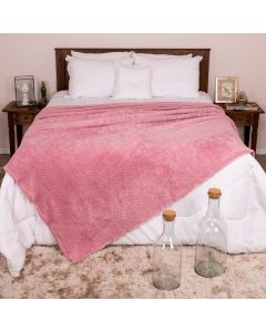 Cobertor Queen 2,20m x 2,40m Dobby - Rose 15-1906