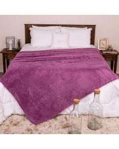 Cobertor Queen 2,20m x 2,40m Dobby - Lilas