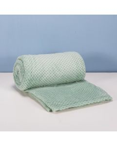 Cobertor Queen 2,20m x 2,40m Dobby - Verde Mint