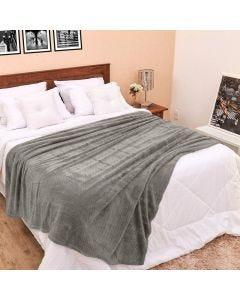 Cobertor Queen 2,20m x 2,40m Dobby - Cinza