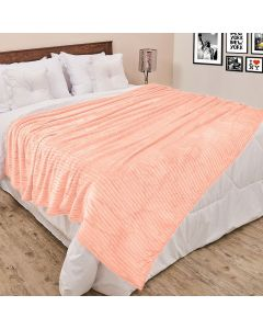 Cobertor Queen 2,20x2,40m Canelado - Rose