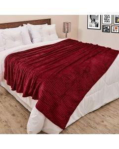 Cobertor Queen 2,20x2,40m Canelado - Vinho