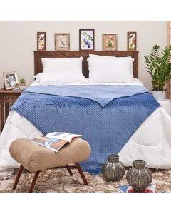 Cobertor Queen 2,20x2,40m Canelado - Petroleo