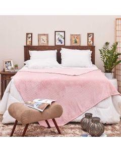 Cobertor Queen 2,20x2,40m Canelado - Salmão