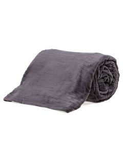 Cobertor Queen 2,20X2,40M Canelado - Cinza Chumbo