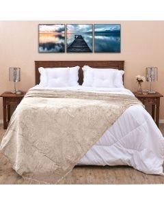 Cobertor Queen 2,20x2,40m Patrícia Foster - Cru