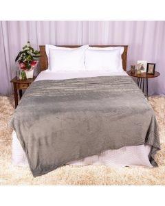 Cobertor Queen 2,20x2,40m Patrícia Foster - Cinza
