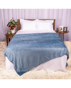 Cobertor Queen 2,20x2,40m Patrícia Foster - Tricot Indigo