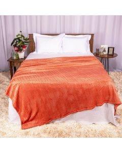 Cobertor Queen 2,20x2,40m Patrícia Foster - Tricot Telha