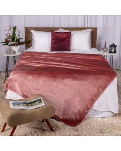 Cobertor Queen 220x240 Raschel Patricia Foster - Rose