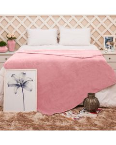Cobertor Queen Microfibra Toque Suave Yaris - Rose Blush