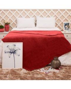 Cobertor Queen Microfibra Toque Suave Yaris - Vermelho
