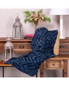 Cobertor Queen Patricia Foster - Marinho
