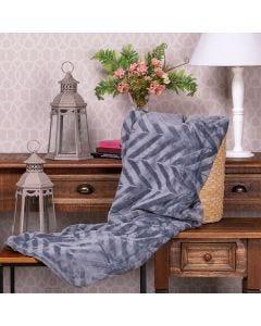 Cobertor Queen Patricia Foster - Cinza