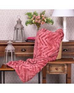 Cobertor Queen Patricia Foster - Rosa Marsala