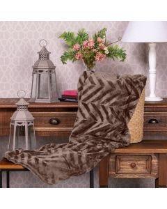 Cobertor Queen Patricia Foster - Taupe Dark