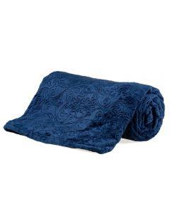 Cobertor Queen Retro 2,20X2,40M Patrícia Foster - Marinho