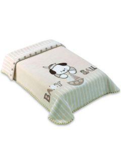 Cobertor para Berço Raschel 80x110cm Le Petit Colibri - Bege